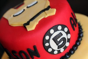 Batman and Iron Man Cake