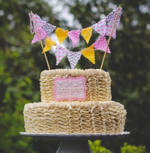 Ribbon Cake with Bunting