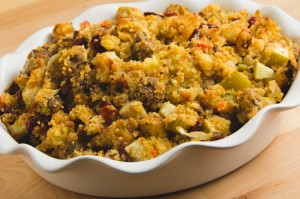 Cranberry Apple Cornbread Stuffing